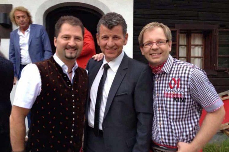 3 Männer bei einer Hochzeit Oktoberfestband München