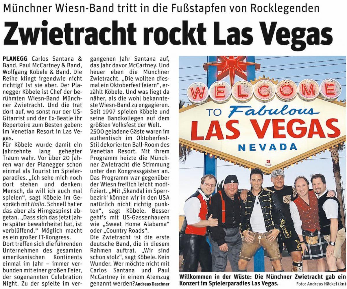 Pressemitteilung Münchner Zwietracht rockt Las Vegas